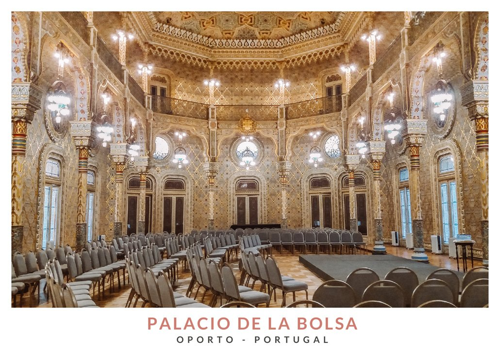 Sala árabe en el Palacio de la Bolsa de Oporto